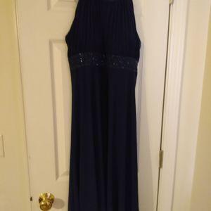Beautiful blue cocktail dress.